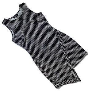 Papillon Black and White Geometric Mini Dress